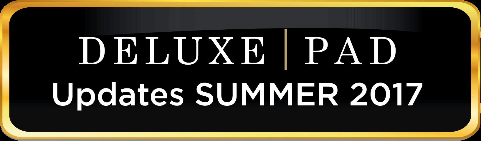 DeluxePad Updates Summer 2017